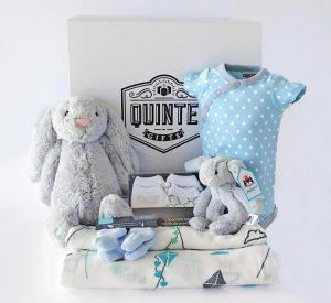 Baby boy gift set box basket
