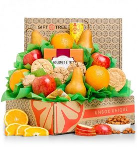 Five Star Gourmet Fruit and Nut Gift Basket