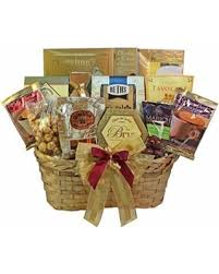 Food and Snack Gourmet Gift Basket Well Stocked with Smoked Salmon with Chocolate Option by Art appreciation gift baskets
