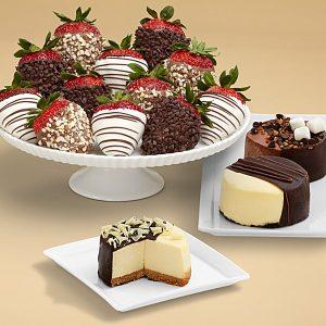Shari's Berries Swizzled strawberries gourmet basket