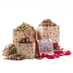 Benevelo Gifts- 6 tier gourmet nuts and snacks